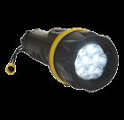 Latarka gumowa z 7 diodami LED.